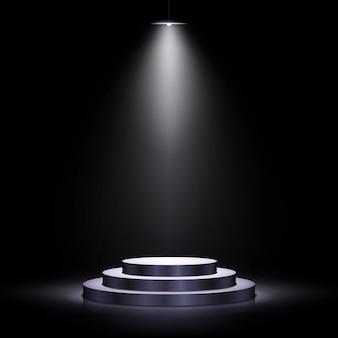 Podium mit beleuchtung