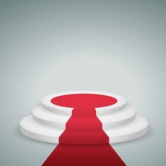 Podium mit rotem teppich
