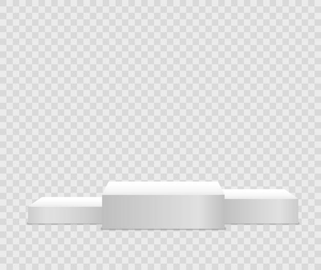 Podium oder plattform für preisverleihung und produktpräsentation für werbebanner-vektor