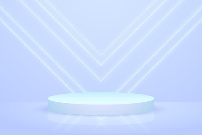 Podium tapete mit geometrischen 3d-formen
