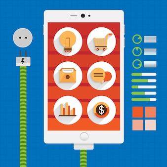 Poer of brain in gedanken über digitales marketing