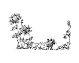 Pointillismus Lotus Floral