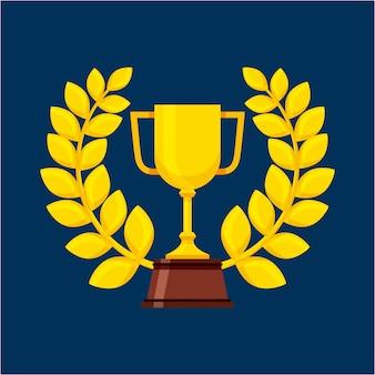 Pokal gewinner cup isoliert symbol