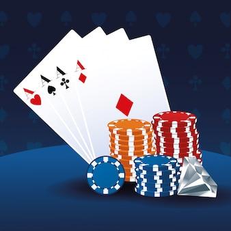 Poker asse chips und diamond betting game casino glücksspiel