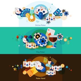 Poker-banner gesetzt