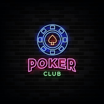 Poker club leuchtreklamen.