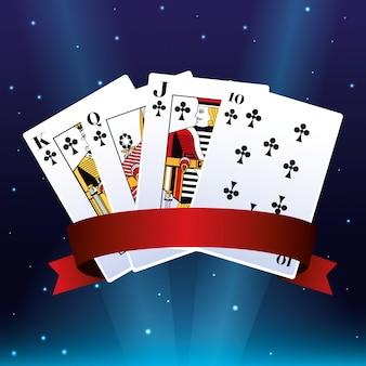 Poker karten club wettspiel casino banner