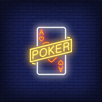 Poker leuchtreklame