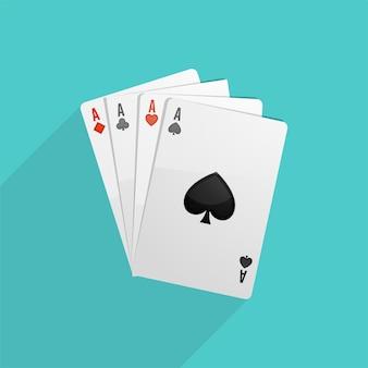 Poker spielkarten hintergrund