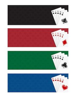 Poker- und casino-spielkartenset royal straight flush-spielkartenset