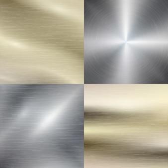 Polierter metall-, stahlbeschaffenheitshintergrund. metallisches material, edelstahl, gebürstetes muster, vektorillustration