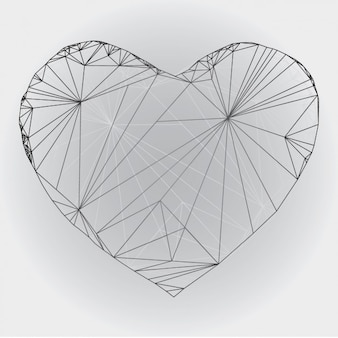 Poligonal skizzierte Herz-Design
