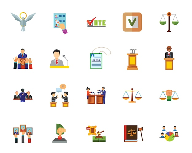 Politik-icon-set