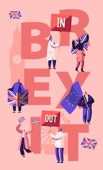 Politikkonzept des vereinigten königreichs. karikatur flache illustration