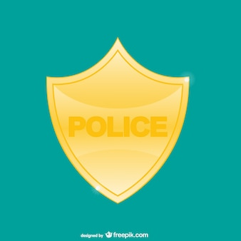 Polizei-abzeichen vektor