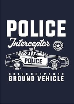 Polizei-auto-interceptor