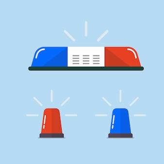 Polizei-blinker oder krankenwagen-blinker-set