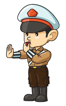 Polizei-cartoon