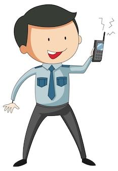 Polizei-mann-cartoon-figur-cartoon-figur