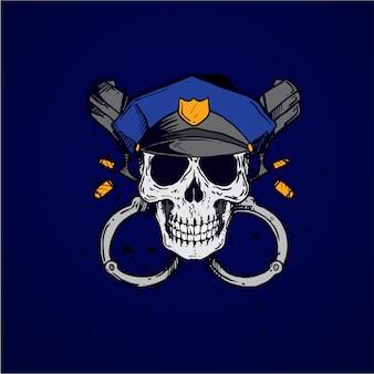 Polizei-schädel-beruf