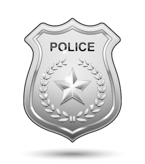 Polizeiabzeichen isoliert