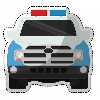 Polizeiauto-symbol