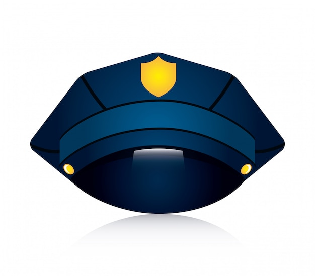 Polizeidesign über weißer hintergrundvektorillustration