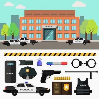 Polizeistation der stadt