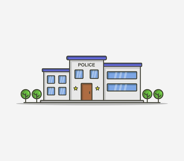 Polizeistation illustriert