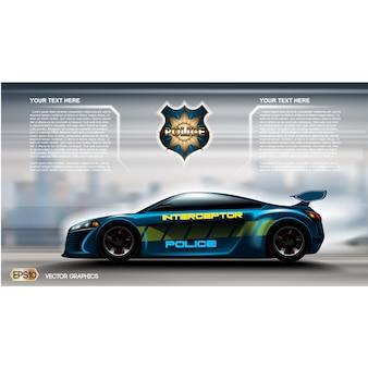 Polizeiwagen hintergrund-design