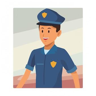 Polizist-avatar-porträt