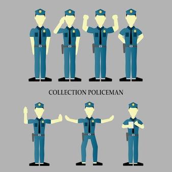 Polizist charakter sammlung.