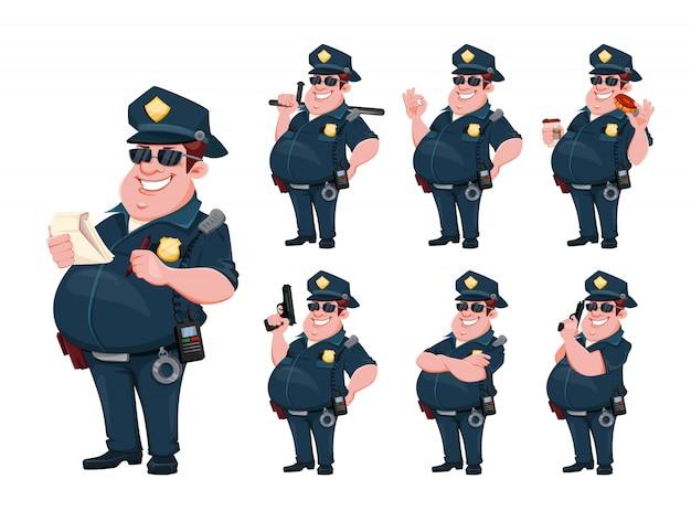Polizist. lustige zeichentrickfigur
