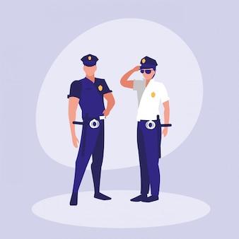 Polizisten avatar charakter