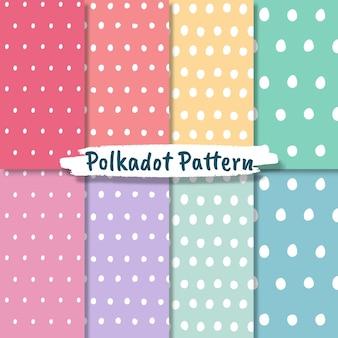 Polka dot musterkollektion in pastellfarben