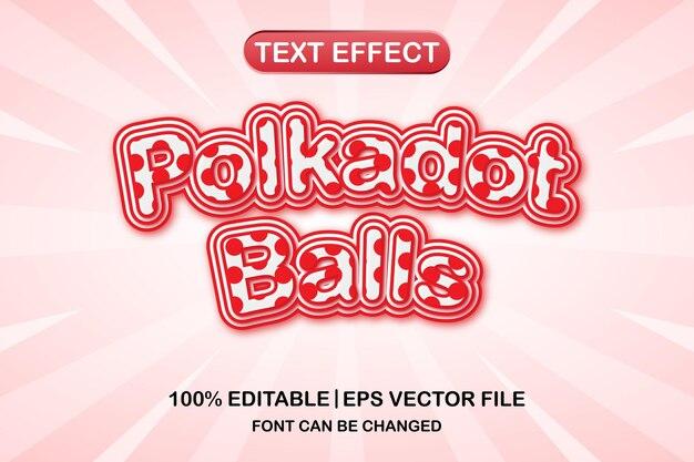 Polkadot-kugeln 3d bearbeitbarer texteffekt