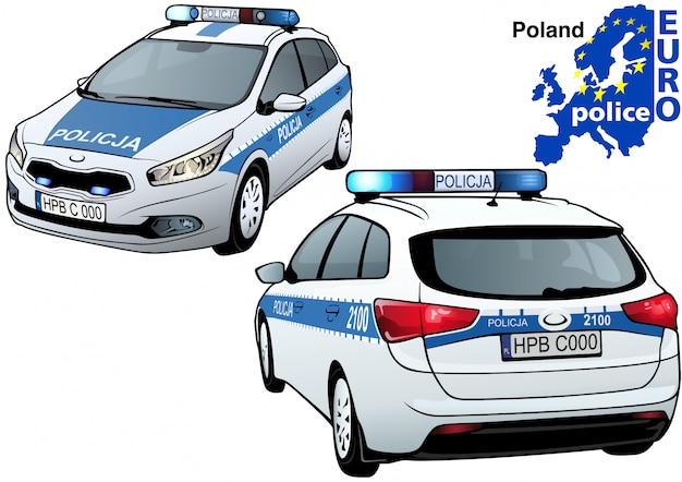Polnisches polizeiauto