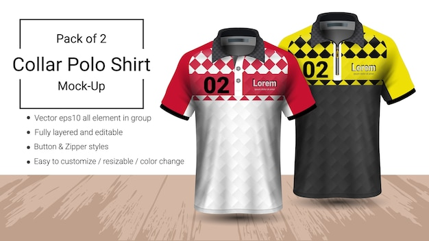Polo-kragen-t-shirt-vorlage