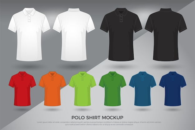 Polo-shirt-modell der männer.