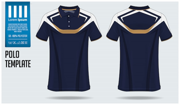 Polo-shirt-modell schablonendesign.