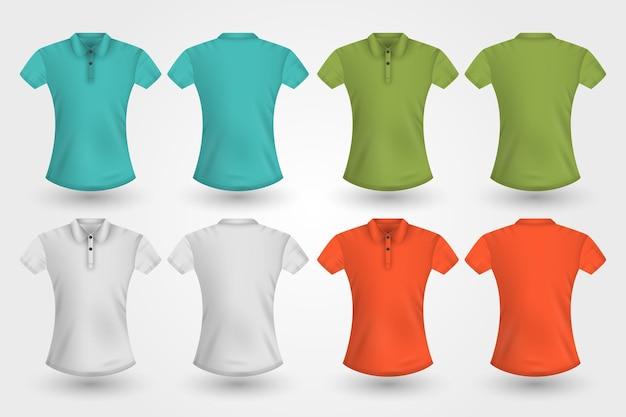 Polo-shirts hinten und vorne