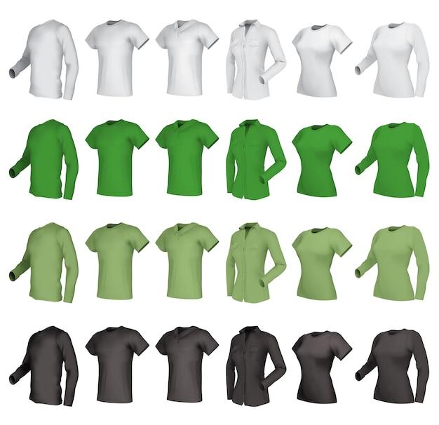 Polo-t-shirts eingestellt.