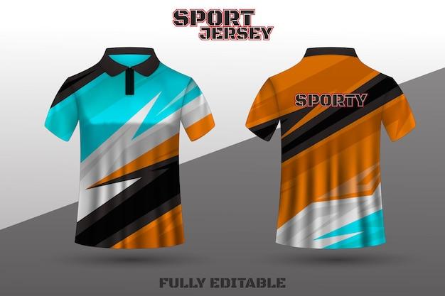 Poloshirt-design sport-t-shirt-vorlagendesign
