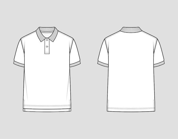 Poloshirt mit geripptem kragen und armbändern.