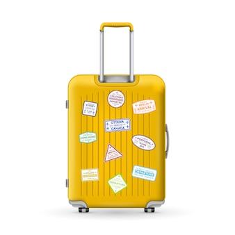Polycarbonat-reisekoffer aus kunststoff, gepäck.