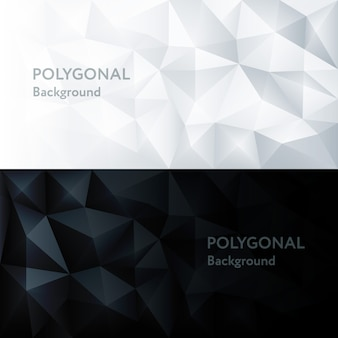 Polygon abstract polygonaler geometrischer dreieck-hintergrund