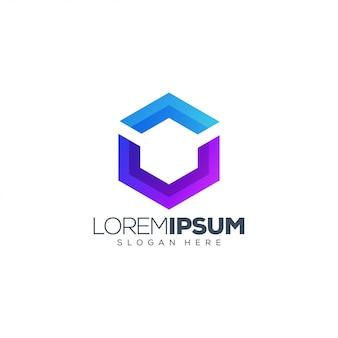 Polygon-logo-design-vektor