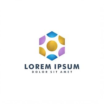 Polygon-logo-vorlage