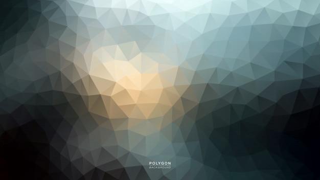 Polygon sky blue light