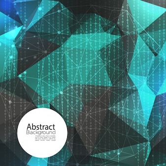 Polygonal abstrakten hintergrund, 3d-stil